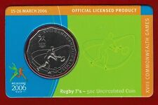 2006 Melbourne XVIII Commonwealth Games 50c Uncirculated Coin - Rugby 7's