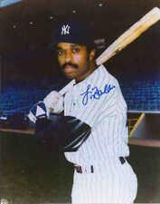 "Larry Milbourne Autographed New York Yankees 7 5/8"" x 9 3/4"" Photo w/COA Cert."