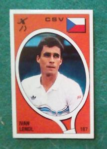 Sticker Figurina Adesivo Panini Supersport IVAN LENDL n.187 1988 RARA!!