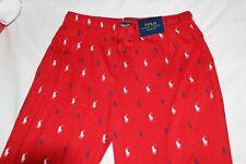 Polo Ralph Lauren Men's Cotton Red Signature Pony Logo Jogger Sleep Pants S-XL