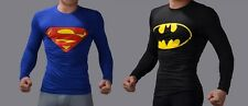 Superman & Batman Full Sleeve T-shirt - (COMBO PACK) (Size:-M)