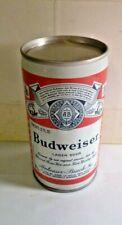 Vintage Budweiser Lager Beer, empty flat top beer can, 5 Cities