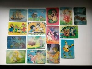 Vintage pocket Calendars Stereo 3D 1982 - 91 Cartoons USSR Russian Soviet Set 15