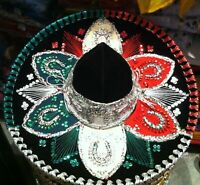 Mariachi Charro Authentic Mexican Sombrero Hat Accessory Folklorico Outfit New