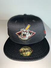 Men's New Era MILB Jamestown Jammers Black Mesh Batting Practice Hat NWT 7 1/2