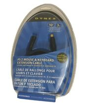 Dynex PS/2 Mouse & Keyboard Extension Cable 10' 3m New