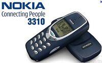 NOKIA 3310  reconditionné à neuf débloqué tout opérateur + chargeur + batterie