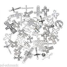 PD: 30 Mix Antiksilber Kreuz Charm Anhänger Kettenanhänger Pendant