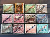 Germany Saar 1922 Dienstmarke (official service) 12 stamps used/MLH without gum