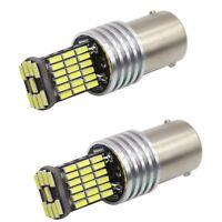 COPPIA LAMPADE LED NO ERROR CANBUS P21W BA15S 45 SMD ULTRALUMINOSO 6000K