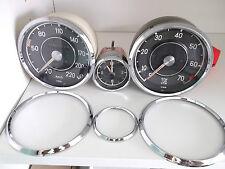 Tachoring, Chromring, Frontringe Mercedes Pagode 190 SL ,Drehzahlm.,Uhr Tacho