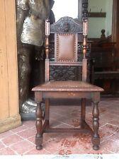 Herne Hunter green man pussy oak carved victorian oak library desk chair