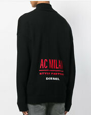 $248 Diesel Men's DVL-Knit Sweater Milan Collection In Black Size L