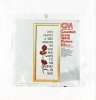 Columbia Minerva - 14 Count Cross Stitch Kit - SEED PACKET - Vintage 1976