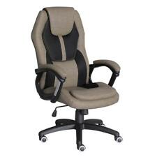 Office Desk Chair Executive Adjustable Swivel Seat High Back Headrest Brown