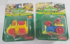 Sesame St Diecast Vehicles Elmo's Locomotive & Ernie's Cement Mixer Fisher price