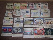 Arsenal Football League Fixture Tickets & Stubs (Pre-1992)