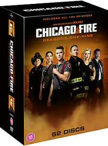 """CHICAGO FIRE COMPLETE SEASON 1-9 COLLECTION DVD BOX SET 52 DISCS R4 """"NEW&SEALED"""""""