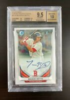 2014 MOOKIE BETTS BOWMAN CHROME AUTO BGS 9.5 / AUTO 10 ROOKIE - LA DODGERS GEM