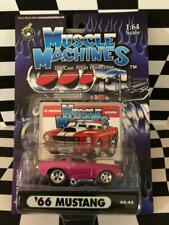 Muscle Machines 2002 Series 02-42 '66 Ford Mustang Magenta Funline