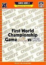"1989 Pro Set Football ""Super Bowl Logos"" Insert Cards"