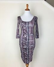 FREE PEOPLE $108 NEW Women's Rayon Printed Soft Stretchy Fitted Dress S