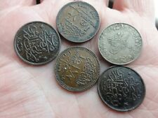 5 egypt coins 2  dated 1917  1/2  milliemes looks knickle and copper