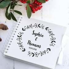 Personalised Wreath Scrapbook | Wedding Guestbook | Photo Album | Guest Book