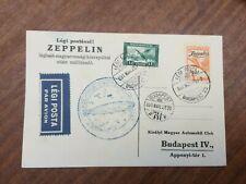 More details for lz 127 zeppelin budapest round flight 19/3/1931