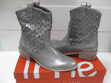 e158e65290e70 RRP£149 NEW Ladies UME silver leather COWBOY BOOTS western UK 5 line dancing