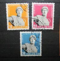 "SVIZZERA SWITZERLAND 1944 ""OLIMPIADI SPORT""SERIE TIMBRATA USED SET (CAT.A)"