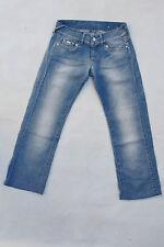 "GAS ""cecilya"" donna jeans blu chiaro sbiadito denim baggy fit W27 L30 UK10 Look"