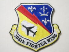 104th FIGHTER WING  PATCH - USAF FULL COLOR WITH HOOK & LOOP MATERIAL :GA18-1