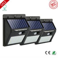 Rechargeable Solar 25 30 LED Waterproof PIR Motion Sensor Security Wall Light!