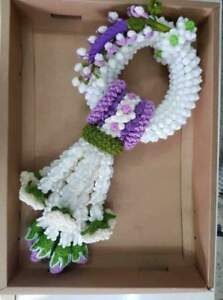 Knitting wool Thai garland handmade jasmine flower