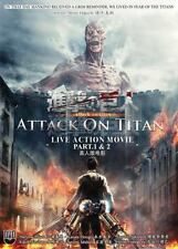 DVD Attack On Titan Live Action Movie Part I and II English Sub
