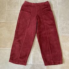 OSKA Cord Corduroy Trousers Size 2 Burnt Red Ankle Length Pockets Lagenlook