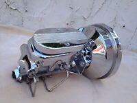 "1964-72 Olds Cutlass 8"" chrome brake booster & master cylinder disc drum valve"