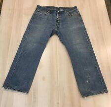 Levis Mens 501 Jeans 38 x 28 1/2 Straight Leg (Tag 40 x 30) Distressed #1A
