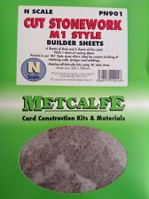 Metcalfe Kit  PN901. Cut Stonework M1 Style. Builder Sheets. N Scale.