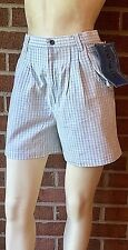 Vintage 1980's Tags Deadstock PALMETTO's High-Waisted Shorts Blue Gingham Size 7