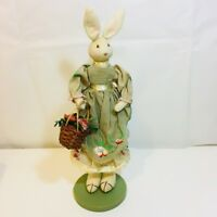 "Vintage Midwest of Cannon Falls Mrs Easter Bunny Rabbit Figure 13"" Tall FeltEars"