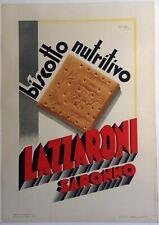 Original vintage Italian poster - Lazzaroni Saronno - Biscotti - in two parts