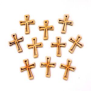 Kreuz mit Ausschnitt 6cm Taufe Kommuion Jugendweihe Tischdeko 10 Stück Religion