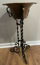 Antique Victorian Wrought Iron & Copper Fern Plant Stand 27�