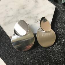 Oro Color Plata Pendientes Metal Círculo Geométrico Sexy Mujeres Para Fiestas