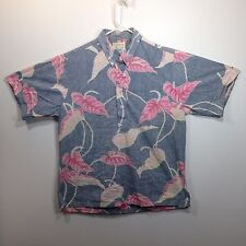 Genuine Hawaiian Aloha Shirt - Kahala - L - Pullover Button down Reverse print