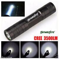 Sky Wolf Eye 3500 Lu 3 Modes CREE XML T6 LED 18650 Flashlight Torch Lamp Light