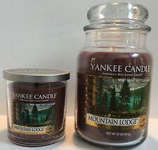 Yankee Candle MOUNTAIN LODGE 22 oz Jar and 7 oz Tumbler