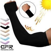 Compression UV Protection Sun Cooling Arm Sleeves Elbow Support Brace UPF50+